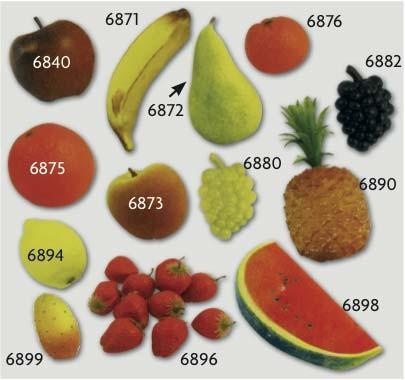 Frutta finta - verdura finta - fiori finti - per ornamenti e decorazioni