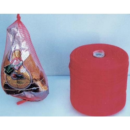 Rete in plastica polietilene morbida, per prosciutti, frutta, prodotti ittici, usi vari.