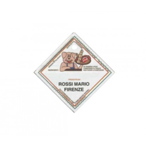 Etichette in plastica alimentare Morgan cm. 6x6