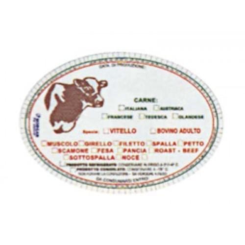 Etichette in plastica alimentare Morgan cm. 10x7