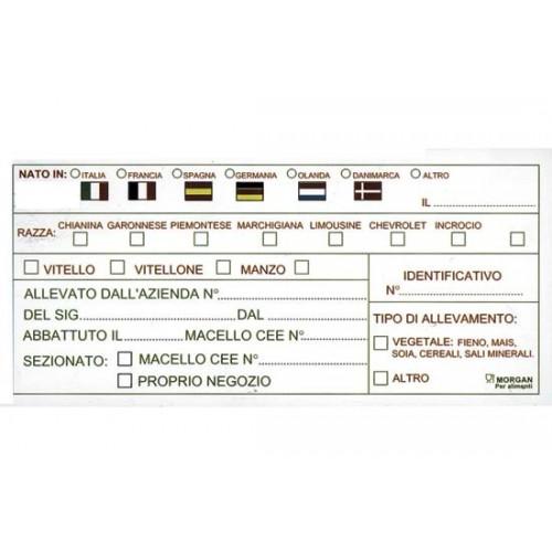 Etichette in plastica per alimenti cm. 12,5x6 identificative del bestiame usa e getta