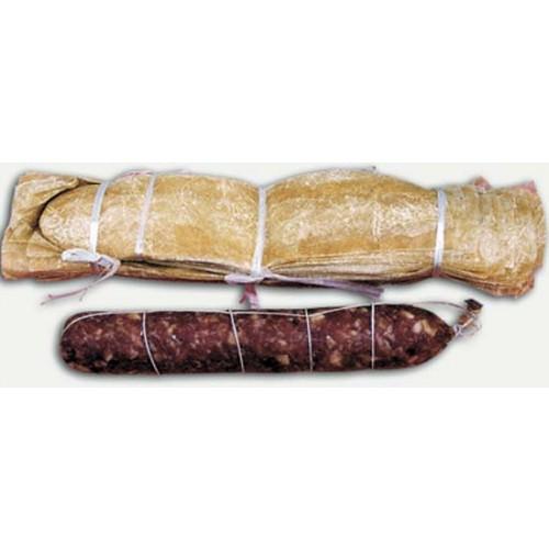 Collati cinesi dritti a sacchetto per salami, prezzi per confezioni da pezzi 100 - 25 - 10 - 5, prodotto con budello naturale seccato e incollato.