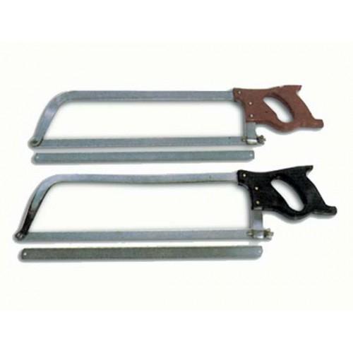 Seghe da macellaio ad arco in acciaio extra e inox, con attacco a vite (seghe complete e ricambi).