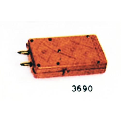 Stimolo elettrico tipo quadro per suini e bovini, funzionamento a pila.