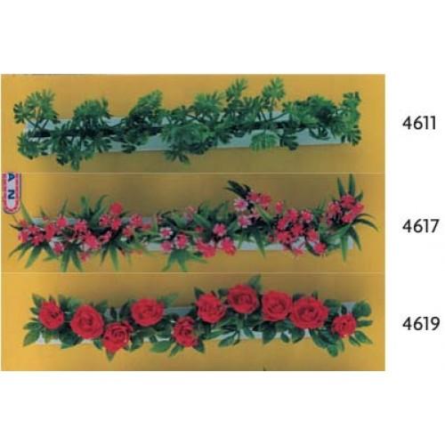 Barrette - divisori lunghi cm 25 di fiori finti per banchi di macellerie, salumerie, supermercati e punti vendita.