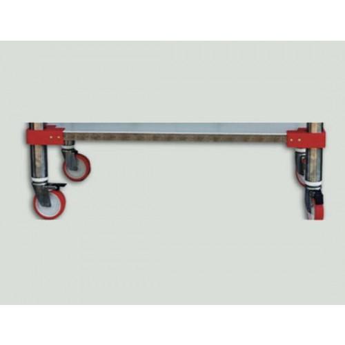 Optional: applicazione ruote con supporti inox per tavoli e ceppi