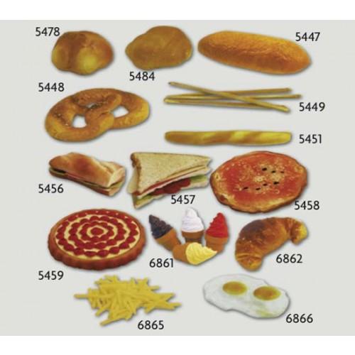 Pane panini pizze dolci finti ornamentali