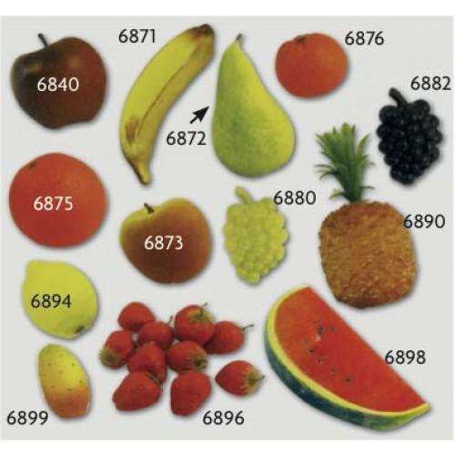 Frutta finta ornamentale in plastica