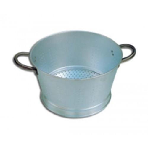 Colapasta e colaverdura conico in alluminio a 2 maniglie con base