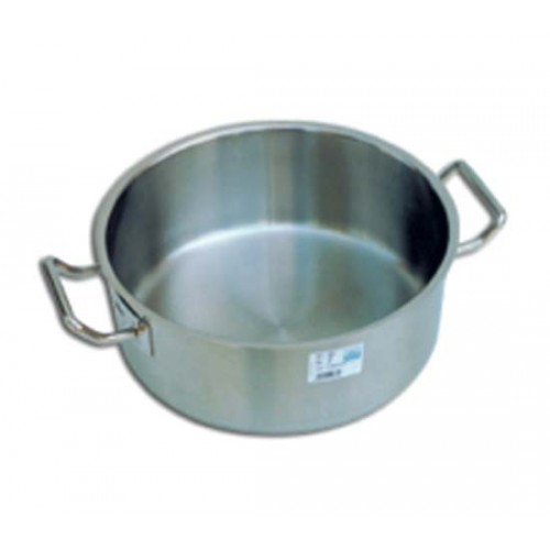 Casseruole in acciaio inox basse a 2 maniglie - PINTINOX.