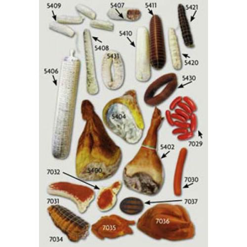 Salumi e carne finti ornamentali