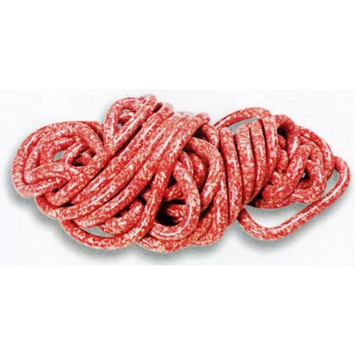Budellina salate di montone o pecora LONGS per salsicce di piccolo calibro, prima qualità bianca fili 1/4 mt, mazzi da mt 45.