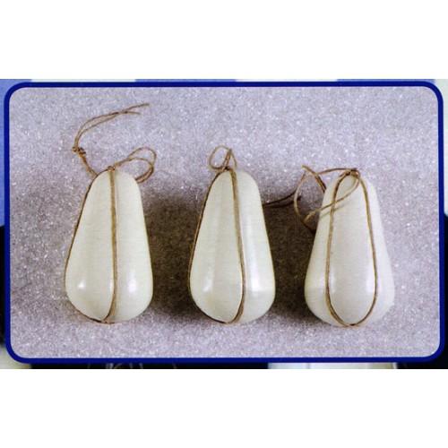 3 provolini a forma di pera finti mm 80x160 (prezzi per 1 confezione da 3 provolini)