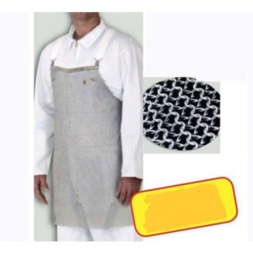 Grembiule di protezione inox cm 55x60, per disosso carni, antinfortunio, antitaglio.