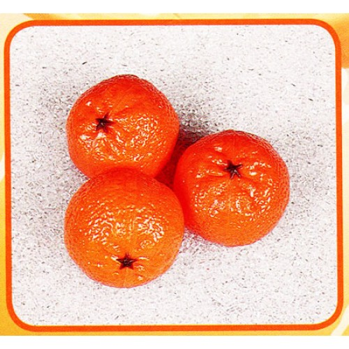3 mandarini finti mm 65x50 (prezzi per 1 confezione da 3 mandarini)