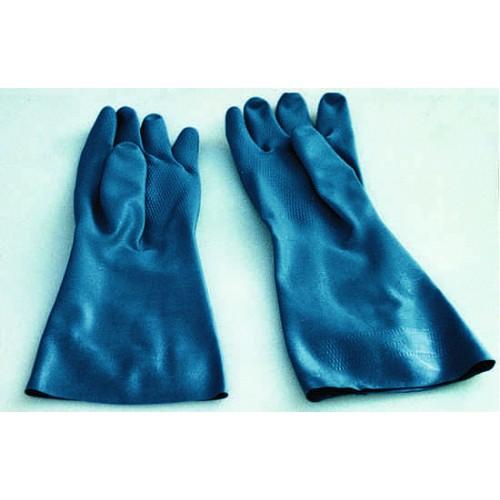 Guanti in gomma blu robusti, prezzi al paio.
