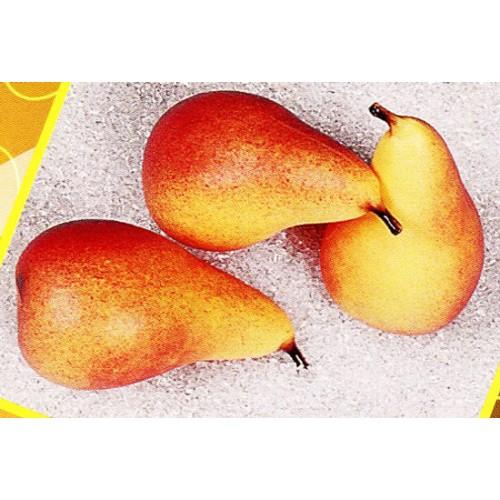 3 pere giallo-rosse finte mm 65x120 (prezzi per 1 confezione da 3 pere giallo-rosse)