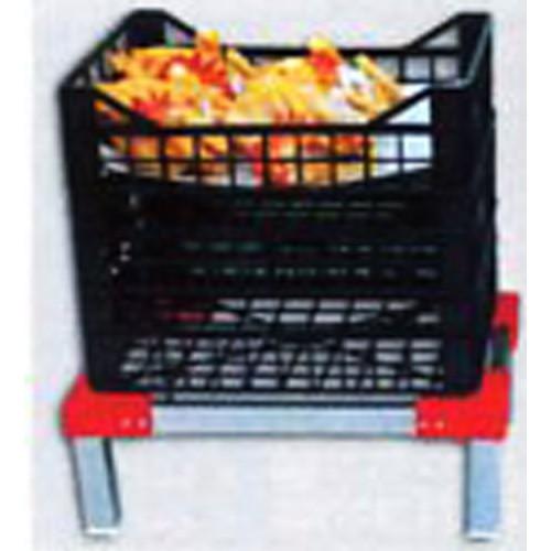Alzaceste in acciaio inox senza ruote e senza ripiano, per celle frigo, per pollame ecc.