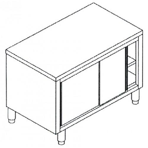 Tavoli inox in acciaio inox aisi 304 armadiati con ante scorrevoli prezzi da scontare - Tavoli acciaio inox prezzi ...