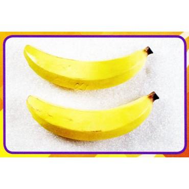 2 banane giganti finte mm 60x330 (prezzi per 1 confezione da 2 banane giganti)