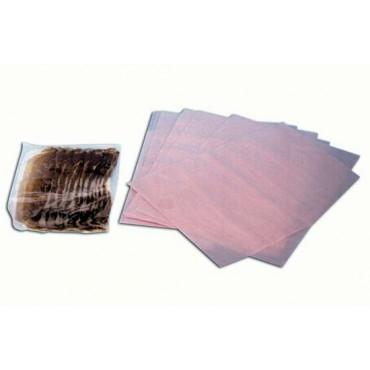 Fogli separatori Morgan rosa HD antiossidanti per affettati, carne ecc. cm 25x37, a strappo, prezzi per cartoni da Kg 5.