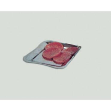 Dischi per hamburger in cellophane trasparente tipo IMP e PT, per supermercati e macellerie, prezzi per kg 1.