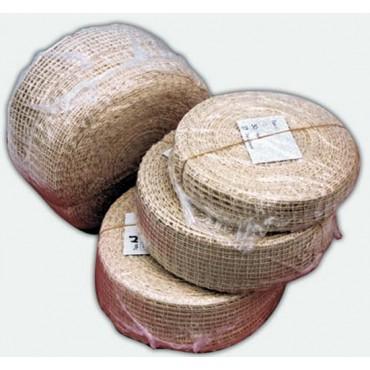 Rete elastica tubolare colore cotone naturale, prezzo per rotolo da mt. 100.