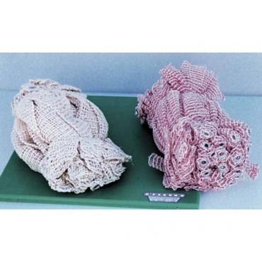 Rete elastica doppia trama in pezzi, colore bianca e rossa oppure normale, prezzo per confezioni da 100 pz.