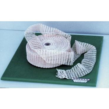 Rete elastica doppia trama, colore cotone naturale, prezzo per 1 rotolo da mt. 50.