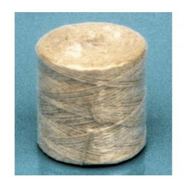 Spago tipo risko peloso in canapa naturale, tit. 2/6, prezzi per confezioni da Kg. 1.