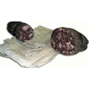 Sacchi per insacco della testa di maiale cotta ecc. Idonei e certificati per andare a contatto diretto con la carne. Prezzi per 1 pezzo.
