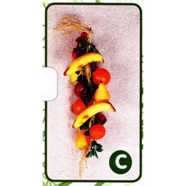 Ghirlanda di frutti vari, finta, cm 50 (prezzi per 1 ghirlanda di frutti vari).