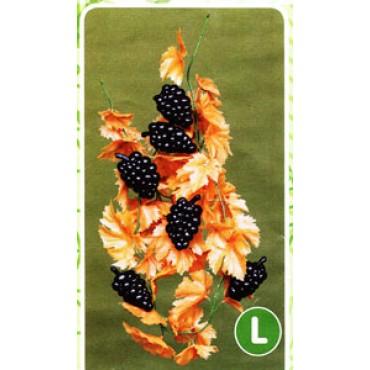 Ghirlanda di foglie d'uva autunnali con grappoli, finta, cm 200 (prezzi per 1 ghirlanda di foglie d'uva autunnali con grappoli).