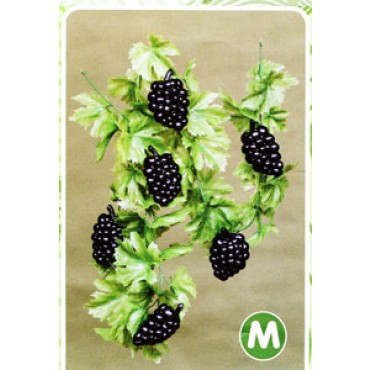 Ghirlanda di foglie d'uva verdi con grappoli, finta, cm 200 (prezzi per 1 ghirlanda di foglie d'uva verdi con grappoli).