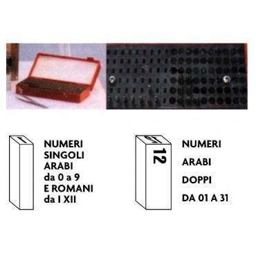 Numeri marcadata singoli e doppi per torchietti manuali e macchine marcadata pneumatiche