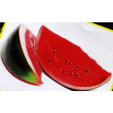2 fette piccole di anguria o cocomero finte mm 170x80 (prezzi per 1 confezione da 2 fette piccole di anguria o cocomero)