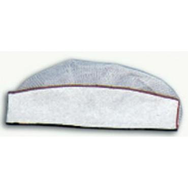 Cappello uomo modello classico, bianco con riga rossa e rete bianca.