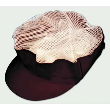Cappello uomo donna con rete bianca e tesa rossa bordeaux