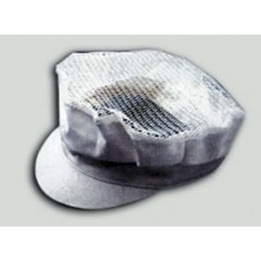 Cappello uomo donna con rete e tesa, colore bianco.