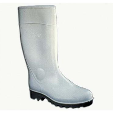 Stivali sottoginocchio in gomma bianchi  tipo normale, prezzi per 1 paio.