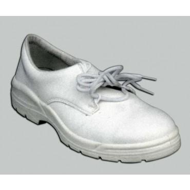 Scarpe bianche con lacci con puntale antinfortunistico, prezzi per 1 paio.
