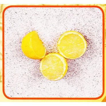 3 mezzi limoni finti mm 40x35 (prezzi per 1 confezione da 3 mezzi limoni)