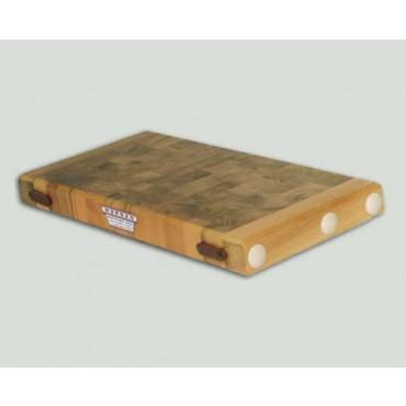 Taglieri in legno con tiranti in acciaio inox