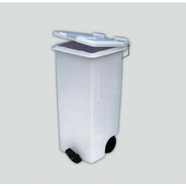 Contenitore industriale in plastica bianco, lt. 80, cm. 46x42xH74, prezzi cad.