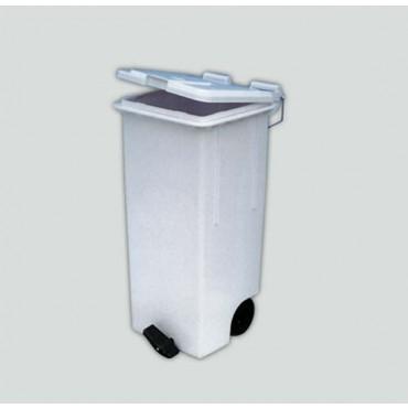 Contenitore industriale in plastica bianco, lt. 120, cm. 48x49xH89, prezzi cadauno.
