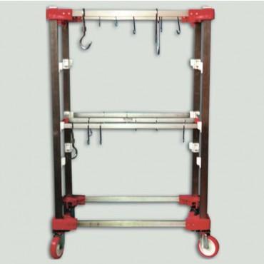 Carrelli trasporto carne in acciaio inox per macelli, industria carne e supermercati.