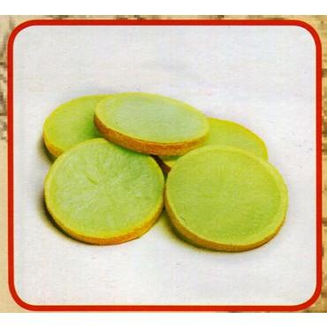 5 fette di limone finte mm 60x80 (prezzi per 1 confezione da 5 fette di limone)