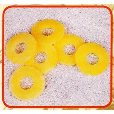 6 fette di ananas finte mm 80 (prezzi per 1 confezione da 6 fette di ananas)