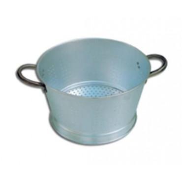 Colapasta e colaverdura conici in alluminio, a 2 maniglie, con base - BALLARINI.