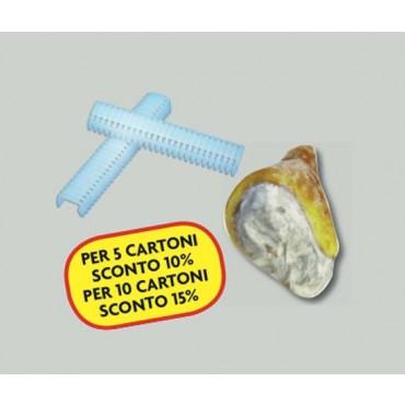 Graffe o clips grandi per cucitura prosciutti disossati, prezzi per confezioni da 300 pz.